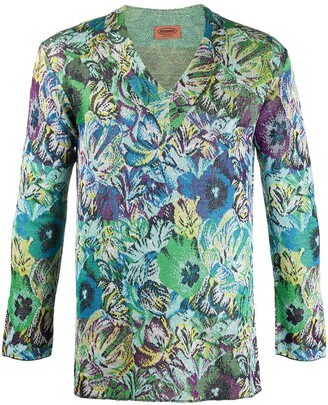 Missoni Pre Owned 1990s floral long-sleeved T-shirt