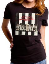 Goodie Two Sleeves Black Kittie Purrallel Lines Tee - Juniors