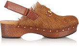 Gucci Amstel Goat Hair Clogs - Brown