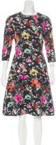 Oscar de la Renta Pre-Fall 2016 Floral Print Dress