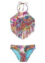 Hobie Girls' Swimwear Peace, Love, and Paisley Scarf Tankini Bikini Set (7yrs14yrs) - 8140626