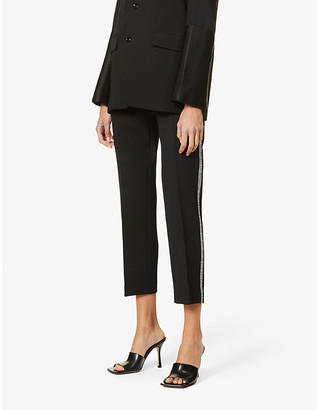 Camilla And Marc Petra side-stripe mid-rise jersey trousers