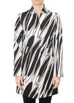 Herno Cotton Overcoat With Geometric Pattern