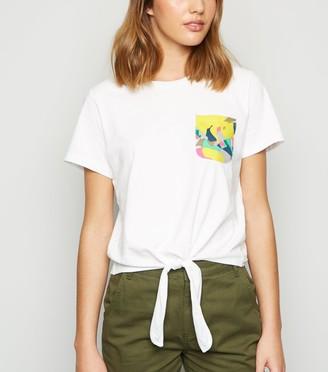 New Look Noisy May Printed Pocket T-Shirt