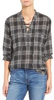 Madewell Women's Lace-Up Plaid Shirt