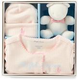 Ralph Lauren Girls' Velour Footie, Hat & Bear Gift Box Set - Baby