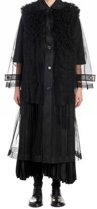 Comme des Garcons X Noir Kei Ninomiya Ruffles Sheer Coat