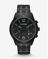 Express black multi-function bracelet watch