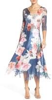 Komarov Women's Floral Chiffon A-Line Dress