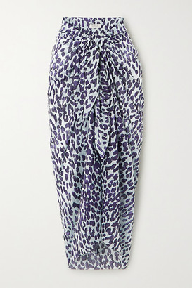 Marios Schwab On The Island By Leopard-print Cotton-gauze Pareo - Leopard print
