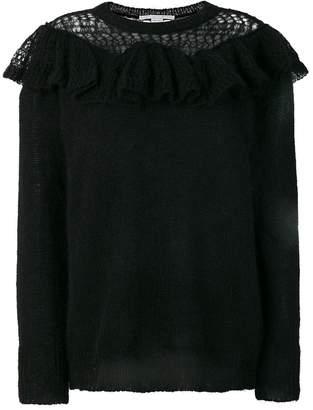 Stella McCartney ruffle-trimmed knit