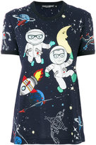 Dolce & Gabbana space print T-shirt - women - Cotton - 40
