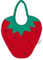Zigozago Strawberry Bib-RED, GREEN
