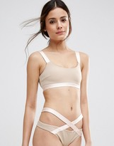 Asos Elastic Trim Strappy Back Crop Bikini Top