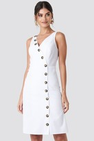 NA-KD Buttoned Detail Dress White