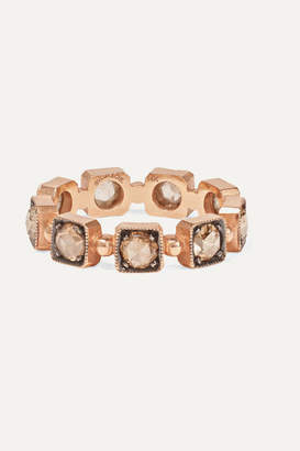 Sylva & Cie 14-karat Rose Gold Diamond Ring