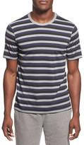 Daniel Buchler Stripe Silk & Cotton Crewneck T-Shirt