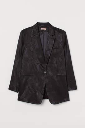 H&M H&M+ Jacquard-weave jacket