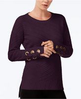 Bar III High-Low Grommet-Detail Sweater, Only at Macy's