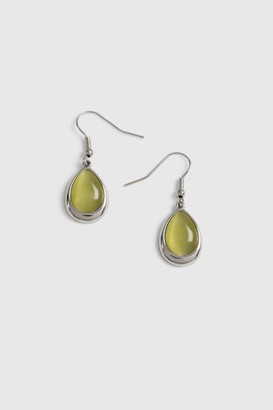 Wallis Lime Textured Glass Matching Jewellery Set