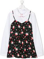 Vivetta Kids floral vest shirt