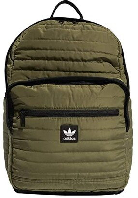adidas Originals Quilted Trefoil Backpack (Olive Cargo) Backpack Bags
