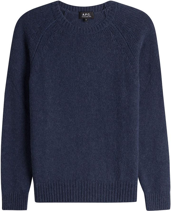 A.P.C. Merino Wool Pullover with Alpaca