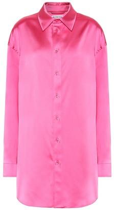 Balenciaga Longline satin shirt