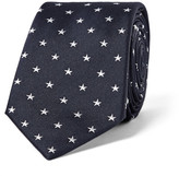 Paul Smith 6cm Star-Embroidered Silk Tie