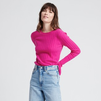 Naadam Cashmere Ribbed Sweater Fuchsia