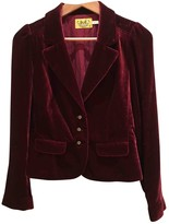 Juicy Couture Red Velvet Jacket for Women