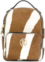 Roberto Cavalli zebra print calf hair mini backpack