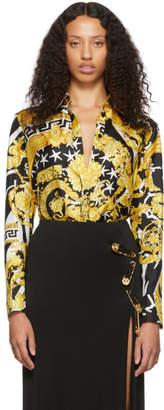 Versace Black and Gold Tresor De La Mer Shirt