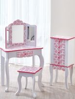 Teamson Fashion Prints Giraffe Vanity & Stool Set