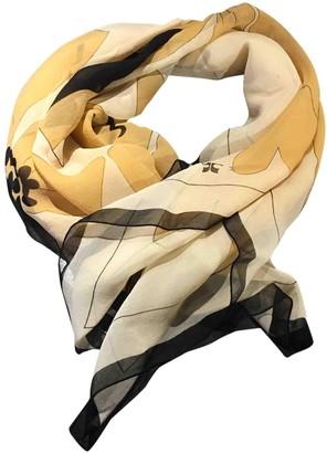 Courreges Gold Silk Scarves