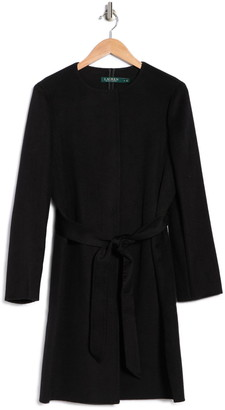 Lauren Ralph Lauren Belted Double Face Wool Blend Coat