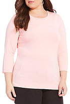 Investments Plus 3/4-Sleeve Top