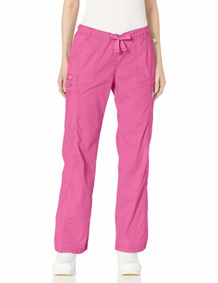 Code Happy Women's Bliss Low-Rise Straight Drawstring Cargo Pant with Certainty
