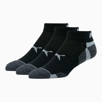 Puma Men's Extended Heel/Toe Quarter Crew Socks [3 Pack]