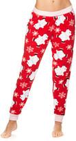 Sleep & Co Women's Sleep Bottoms RED - Red Ice Skating Polar Bear Plush Jogger Pajama Pants - Juniors