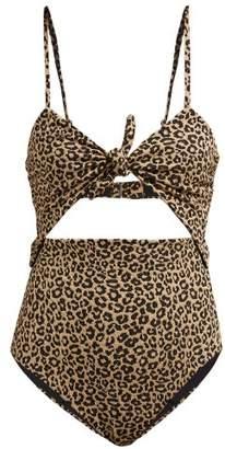 Mara Hoffman Kia Leopard Print Jacquard Swimsuit - Womens - Leopard