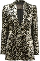 Roberto Cavalli leopard jacquard blazer