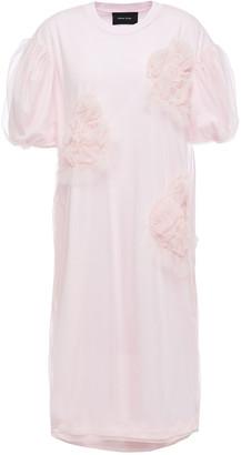Simone Rocha Layered Ruffled Tulle And Supima Cotton-jersey Dress