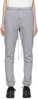 Essentials Grey Fleece Reflective Lounge Pants