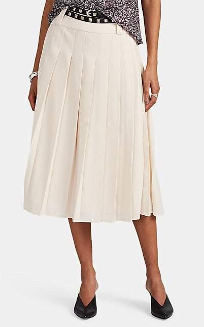 LES COYOTES DE PARIS Women's Ines Pleated Belted Midi-Skirt - Cream