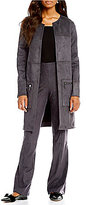 H Halston Zip Pocket Topper Jacket