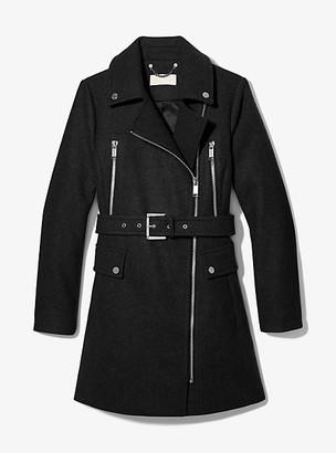 Michael Kors Wool Blend Zip Front Coat