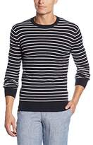 Superdry Men's Orange Label Stripe Crew Jumper