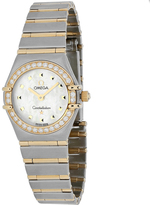 Omega Constellation O1365.71 Women's Stainless Steel Watch with Crystal Accents