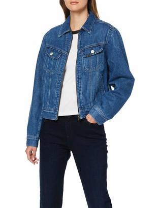 Lee Women's Zip Cropped Rider Denim Jacket
